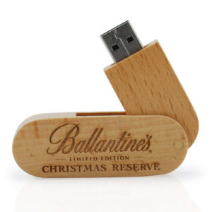 Wooden Swivel 4 GB USB 2.0